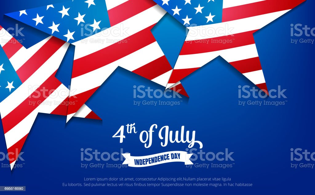 Fourth of July. 4th of July holiday banner. USA Independence Day banner for sale, discount, advertisement, web etc. vector art illustration