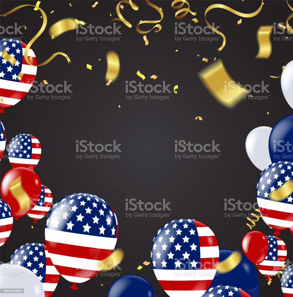 Fourth Of July 4th Of July Holiday Banner Usa Independence Day