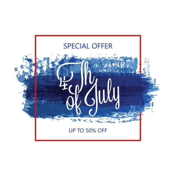 Fourth of july abstract background vector art illustration