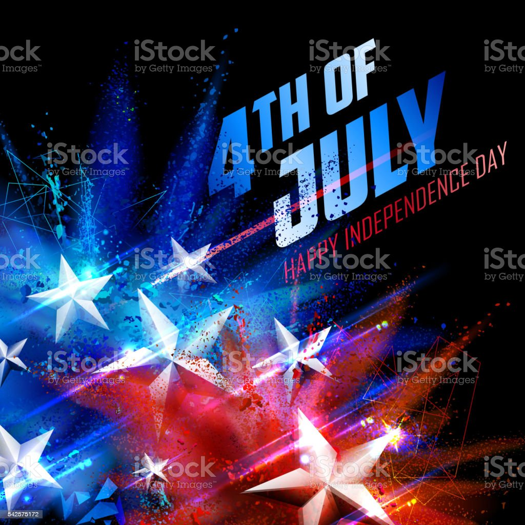 Fourth of July background for Happy Independence Day  America vector art illustration