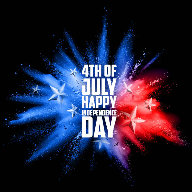 Fourth of July background for Happy Independence Day  America illustration of Fourth of July background for Happy Independence Day of America circa 4th century stock illustrations