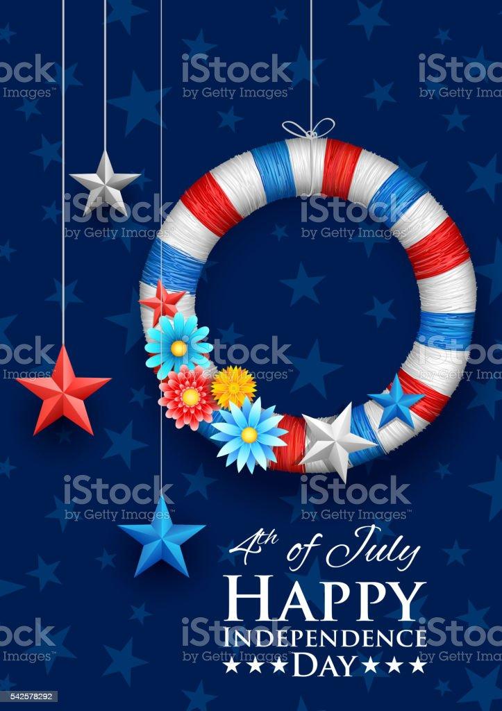 Vierter Juli Hintergrund Für Glücklich Tag Der Unabhängigkeit ...