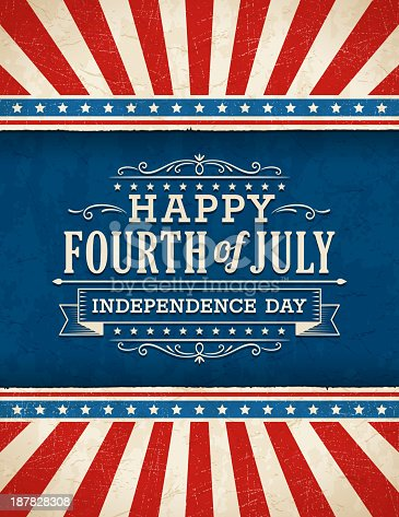 Fourth of July Background. EPS 10 file with transparencies. All elements are separate objects. File is layered, global colors used and hi res jpeg included. Please take a look at other work of mine linked below.