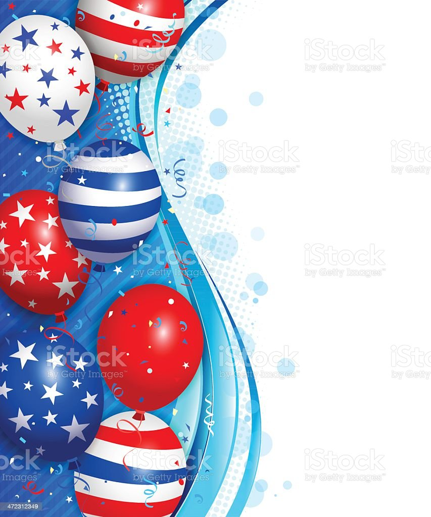 Fourth of july background royalty-free stock vector art