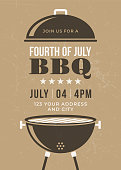 istock Fourth of July BBQ Party Invitation 988450118