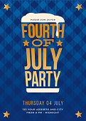 Fourth of July Beer Party Invitation - Illustration