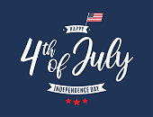 istock Fourth of July card. Independence day. Vector 1251191989