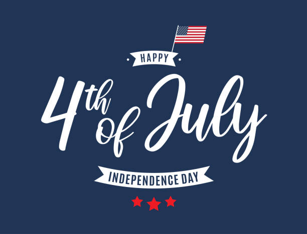 ilustraciones, imágenes clip art, dibujos animados e iconos de stock de tarjeta del 4 de julio. día de la independencia. vector - independence day