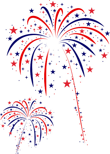 Fourth Of July Fireworks Stock Illustration - Download Image Now