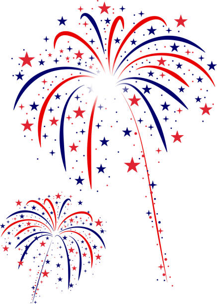 fourth of july fireworks - fireworks stock illustrations