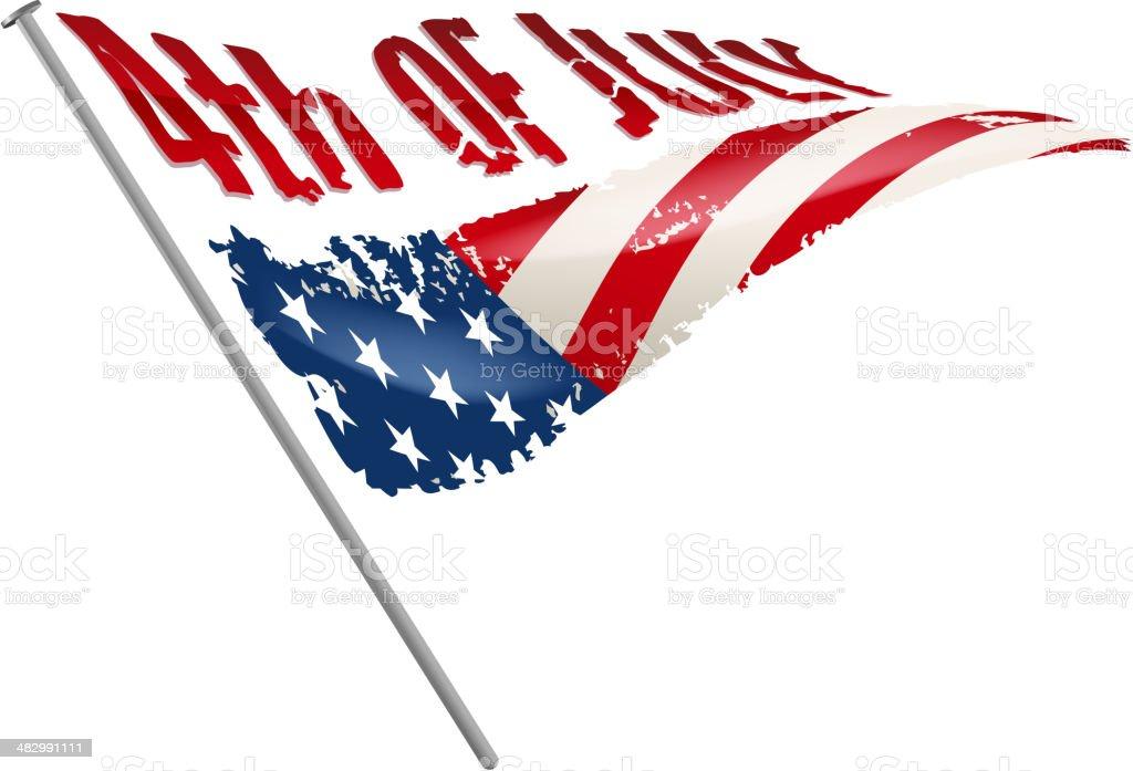 fourth of july flag vector art illustration