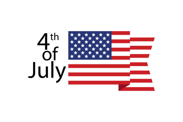 fourth of july. independece day. greeting card template. usa - memorial day stock illustrations