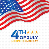 Fourth of July Independence Day of United States of America Banner Background Vector illustration. Independence Day of United States of America 4th of July with American Flag vector design.