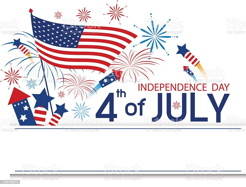 Fourth of july independence day vector art illustration