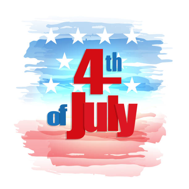 Fourth of July, Independence Day vector art illustration