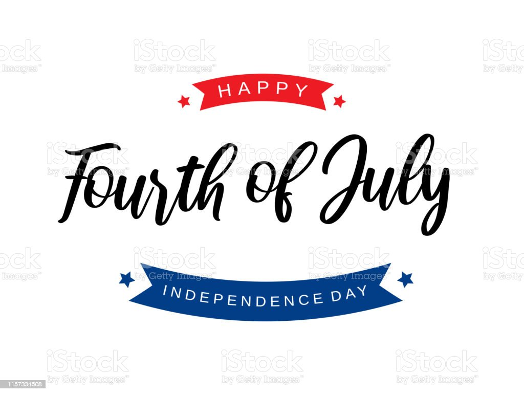 Fourth of July lettering card. Independence Day. Vector illustration. Fourth of July lettering card. Independence Day. Vector illustration.  EPS10 American Culture stock vector