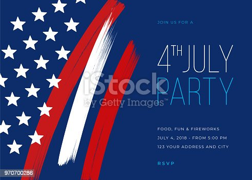 istock Fourth of July Party Invitation Template 970700286