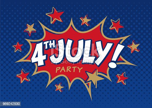 Fourth of July Party Invitation - Illustration