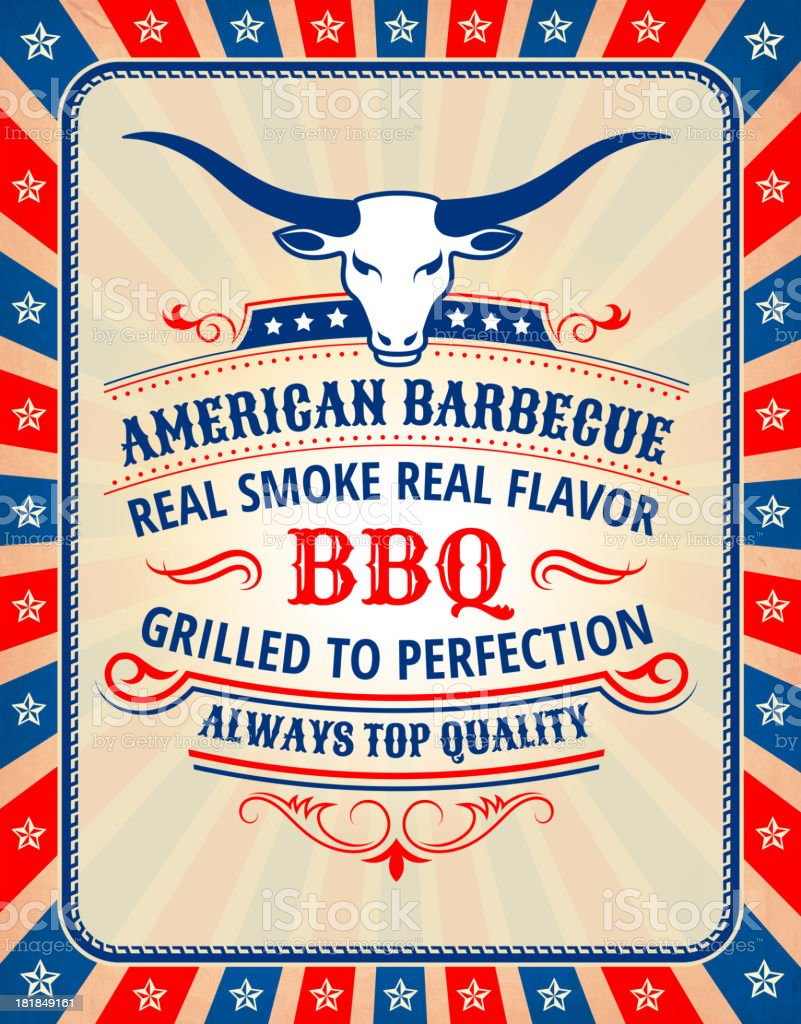 Fourth of July Patriotic American Barbecue royalty-free stock vector art