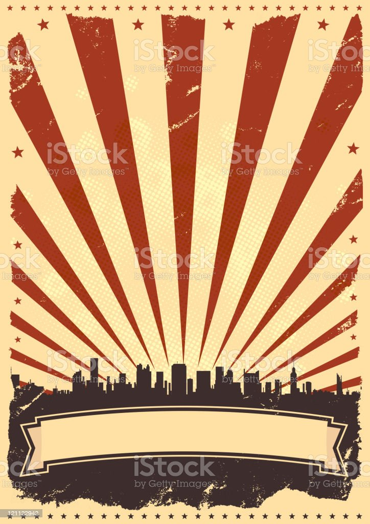 Fourth Of July Poster Background royalty-free stock vector art