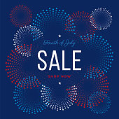Fourth of July sale design for advertising, banners, leaflets and flyers