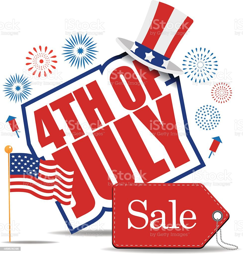 Fourth of July Sale icon EPS 10 vector vector art illustration