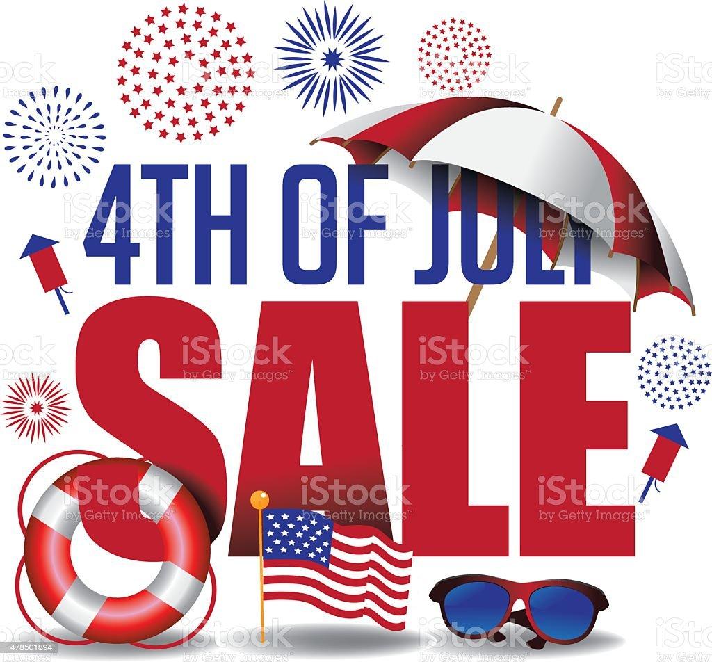 Fourth of July sale marketing header. EPS 10 vector. vector art illustration