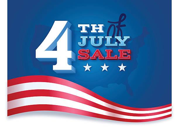 Fourth of July Sale vector art illustration