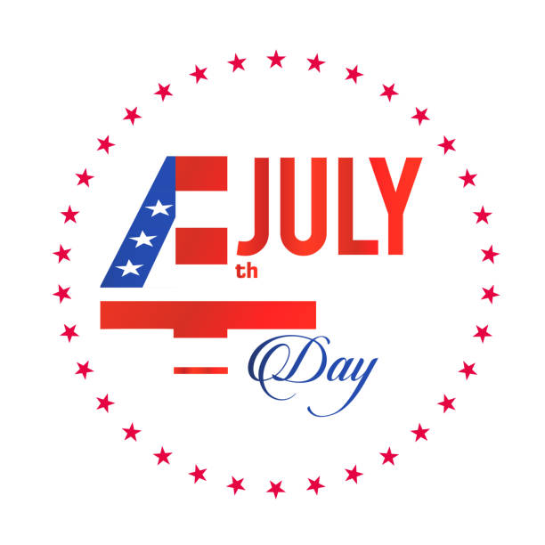 fourth of july stars circle frame background vector image - happy 4th of july stock illustrations