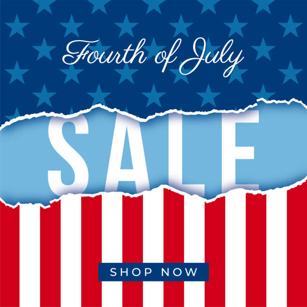 Fourth of July USA Independence day sale banner - Illustration vector art illustration