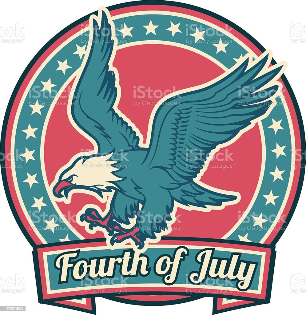 Fourth Of July vector art illustration