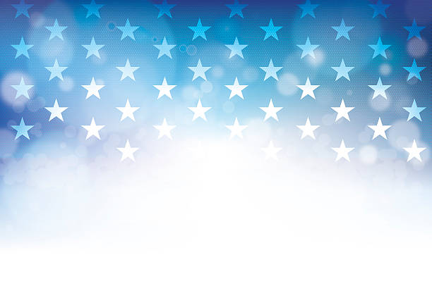 fourth of july - american flag background stock illustrations