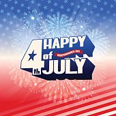 """This illustration is a background of the text for """"Independence Day""""."""