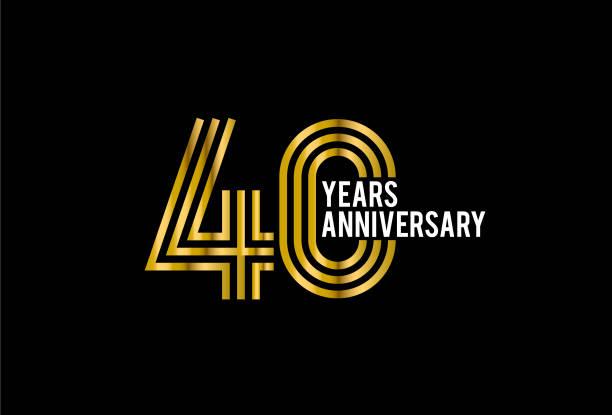 Fourty Year Anniversary vector art illustration