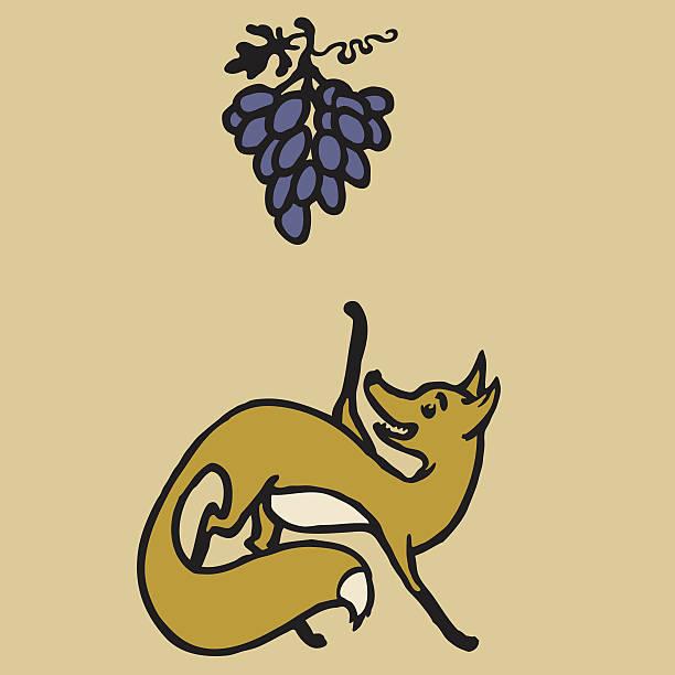 Надписями чмоки, картинки лисица и виноград рисовать