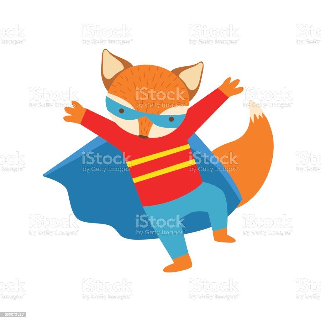 sélectionner pour dernier incroyable sélection utilisation durable Renard Animal Habillé Comme Super Héros Avec Un Personnage ...
