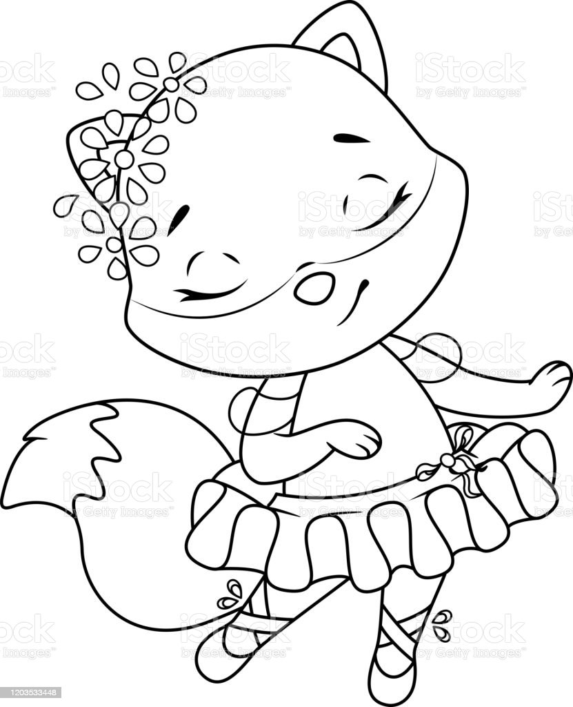 Ballerina Swan Dance coloring page | Free Printable Coloring Pages | 1024x831