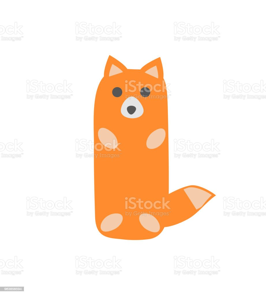 Fox. Children's drawing. Isolated on white background. Vector illustration. - Royalty-free Animal stock vector