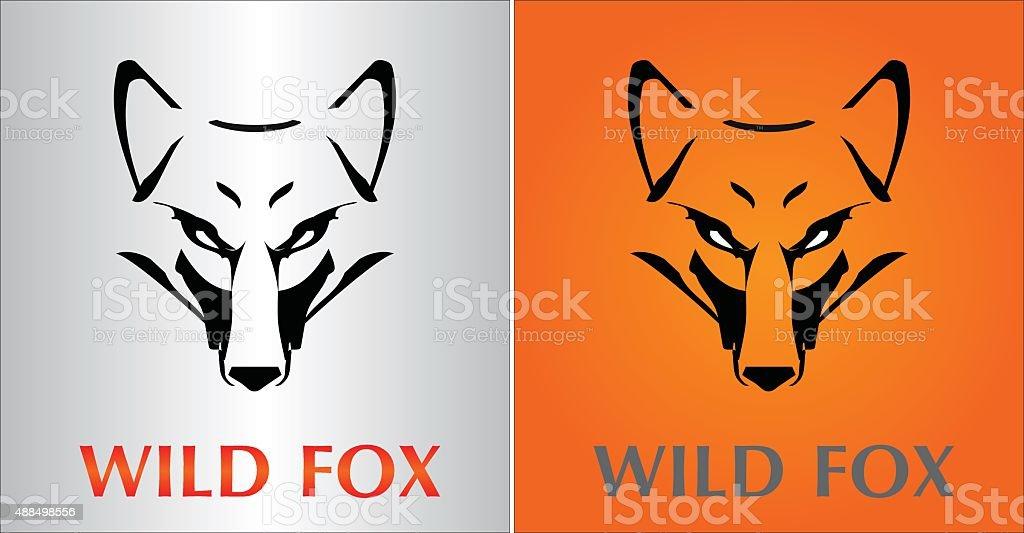 Fox. Fox Head. vector art illustration