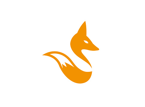 Fox head and tail wolf for logo Design