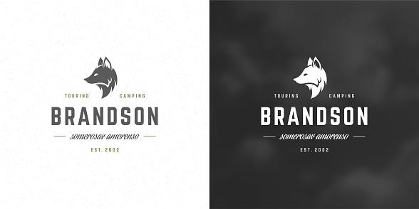 Fox head logo emblem vector illustration silhouette for shirt or print stamp