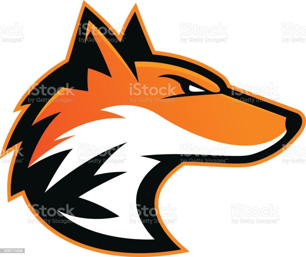Fox head mascot vector art illustration