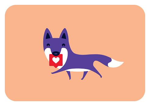 fox holding like icon