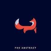 Fox Illustration Vector Template. Suitable for Creative Industry, Multimedia, Entertainment, Educations, Shop, and any related business.