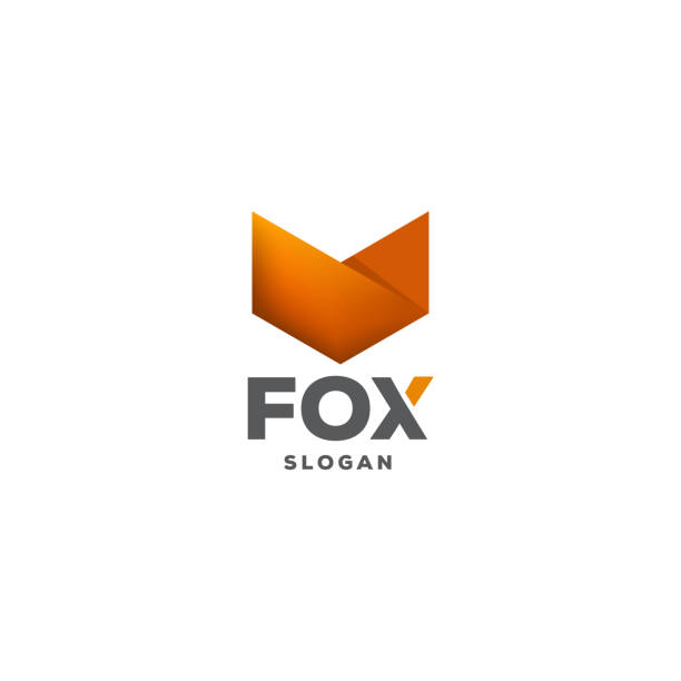 fox logo Fox Logo design vector template negative space. fox stock illustrations