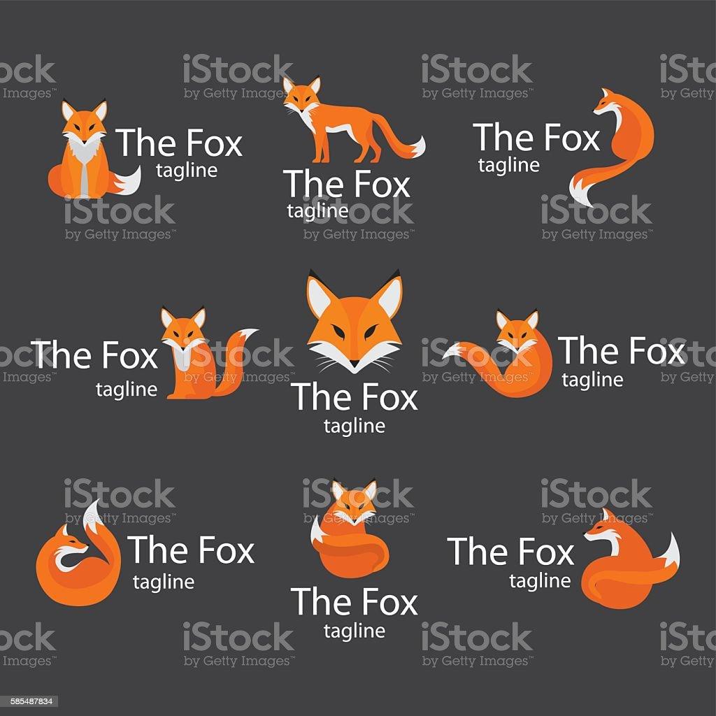 Fox logos - ilustración de arte vectorial