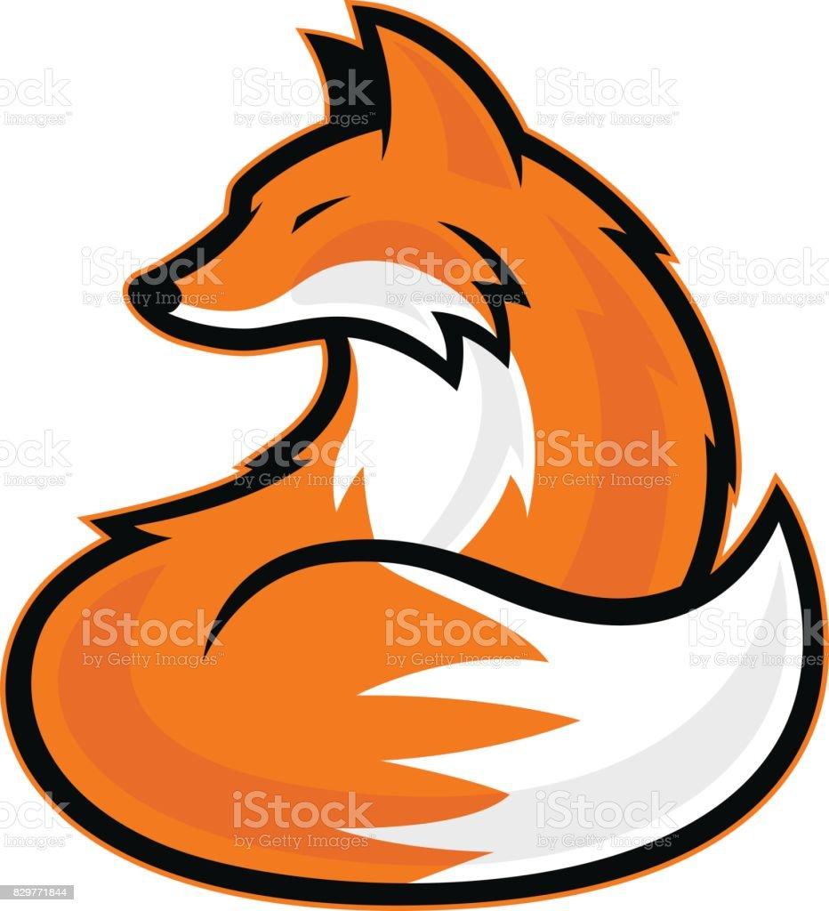 Fox mascot - ilustración de arte vectorial