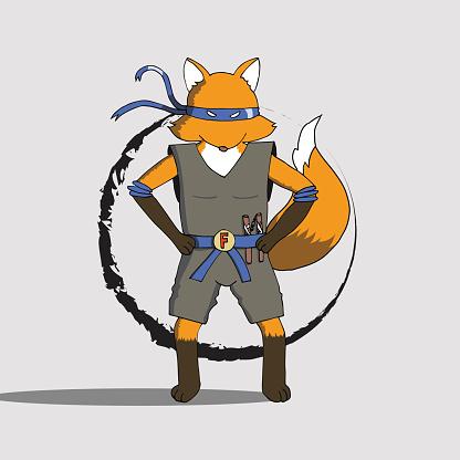 Fox ninja EPS10