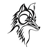Aninimal Book: Free download of Tribal Wolf Head Tattoo vector graphics ...