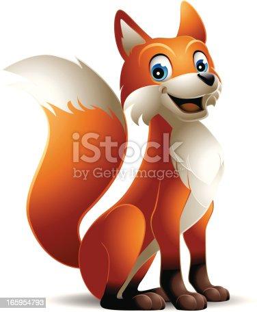 A cute fox. EPS 8.